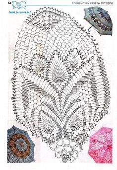 Débardeurs Au Crochet, Crochet Doily Diagram, Crochet Doily Patterns, Crochet Chart, Thread Crochet, Crochet Doilies, Crochet Stitches, Lace Umbrella, Lace Parasol
