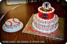Cincinnati Reds Baseball Cake - 1st Birthday