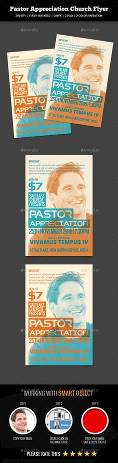 Pastor Appreciation Church #Flyer - Church Flyers Download here: https://graphicriver.net/item/pastor-appreciation-church-flyer/20088616?ref=alena994