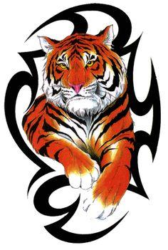 buzzfeed feminine tattoos with colors   tribal tiger tattoos