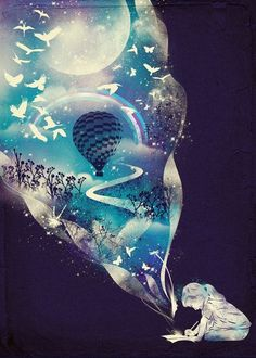 """Your #fantasies define you, so #dream carefully."" —Jarod Kintz  #Art: Dan Elijah G. Fajardo"