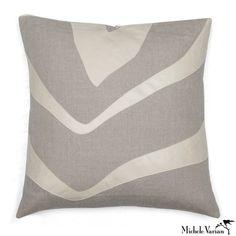 Michele Varian Shop - Linen Applique Pillow Zebra Natural 20x20