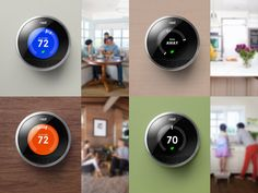 The Nest thermostat: wifi enabled, learning Ai, programable and adjustable from Nest app on IOS or Android