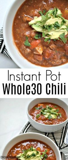 Instant Pot Whole30 Chili - my favorite chili recipe adapted for #whole30 in the #instantpot | Chicago Jogger #whole30recipes