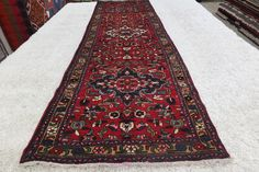 Persian Hand Knotted Hamedan Runner Size 320x95cm