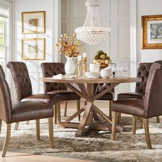 Our Best Dining Room & Bar Furniture Deals Pine Dining Table, Dining Decor, Dining Room Furniture, Dining Room Table, Cool Furniture, Dining Chairs, Kitchen Chairs, Furniture Stores, Round Dining Room Sets