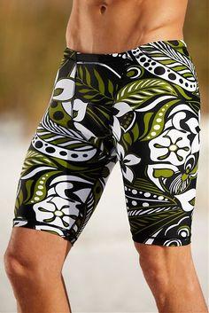 38d05e1713 Hawaiian Compression Swim Short   Hapari Swimwear Shorts With Tights, Sport  Tights, Tight Leggings