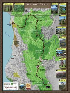 **This is the first in an interview series we are doing this year with hiking trail organizations.** I had a lively conversation this week with Michael Kauffmann, founder and head of the Bigfoot Tr… Backpacking Trails, Hiking Trails, Trinity Alps, Crescent City, The Mountains Are Calling, Bigfoot, The Great Outdoors, Wilderness, City Photo