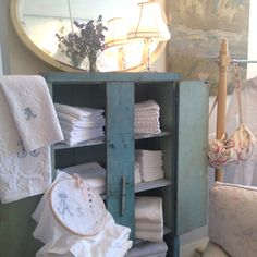 Monogrammed towels at Rachel Ashwell Shabby Chic Couture in Santa Monica