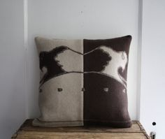 handmade wool pillow cover by littlebyrdvintage on Etsy, $34.00