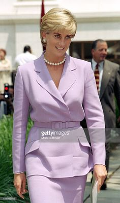 Diana, The Princess Of Wales Visits Washington, Usa.Anti-Landmines Speech At The Red Cross Headquarters .