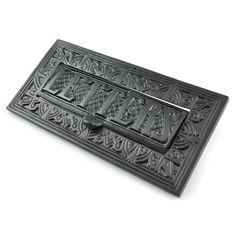 victorian kenrick letter plate lovely large cast iron letter plate with weighted letters flap