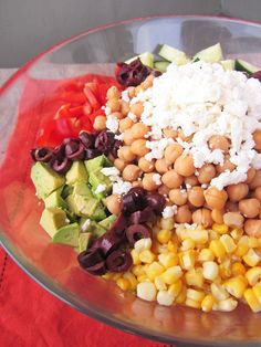 Healthy Summertime Chickpea Chopped Salad