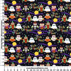Trick or treat! Our Halloween fabric is ready to be made into decorations!