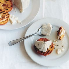 Grilled Peaches and Ricotta recipe | Epicurious.com