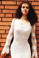 Crocheted wedding bolero