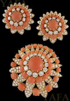 Van Cleef & Arpels Diamond Coral brož Suite