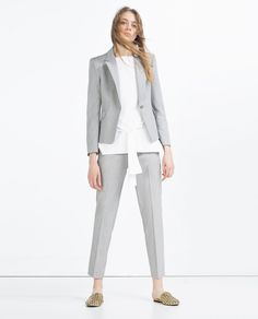 CHINO TROUSERS-Pleats-TROUSERS-WOMAN-SALE | ZARA United States