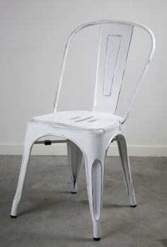 Replica Xavier Pauchard Tolix Vintage White Dining Chair