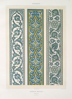 One of hundreds of thousands of free digital items from The New York Public Library. Islamic Art Pattern, Pattern Art, Pattern Design, Decoupage Vintage, Arabesque, Art Arabe, Motifs Islamiques, Molduras Vintage, Art Chinois