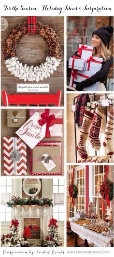 Classic Red always looks lovely for the Holidays! Tis the Season Holiday Ideas and Inspiration Christmas @frostedevents frostedevents.com #christmas #holidays #christmasdecorations #redchristmas #christmasinspiration