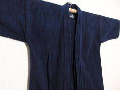 "vintage Japanese indigo wear sashiko jacket ""KENDO-GI"" ""AIZOME""   Free shipping!  No.17010163"