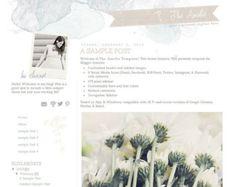 premade blogger template - the amelia template (watercolor)