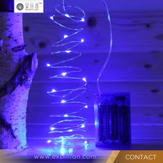 AA Battery Operated Cooper wire LED Fairy Light-Blue