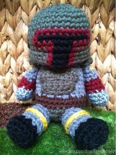 Crochet Boba Fett  Star Wars Amigurumi by eggyolkiness on Etsy, $35.00