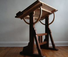 The architect& table, The Unplugged Woodshop, Tom Fidgen, woodworking, hand. Woodworking Tools For Sale, Essential Woodworking Tools, Unique Woodworking, Woodworking Bench, Woodworking Machinery, Popular Woodworking, Woodworking Videos, Architect Table, Carpentry Projects