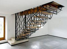 Villa La Roche staircase by archiplein in France