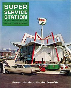 Groovy 1964 Gas Station Design