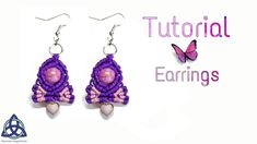 Macrame Earrings Tutorial, Earring Tutorial, Crochet Earrings, Macrame Owl, Macrame Jewelry, Diy Jewelry, Jewellery, Magic Knot, Wire Wrapping Tutorial