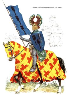 1310 c. Caballero alemán.