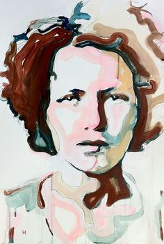 Greg Hart's Historical Portraits combine unexpected colors, negative space, and some unexpected subject matter. Ladies and gentleman from the. Abstract Portrait, Watercolor Portraits, Portrait Art, Portrait Paintings, Painting People, Figure Painting, Painting & Drawing, Painting Abstract, Acrylic Paintings
