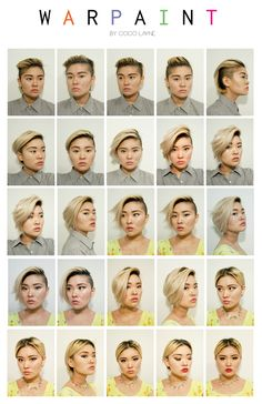 """Here's what happened when one Queer woman decided to to dress more feminine for her job. All it took was one versatile haircut, and voila. The seeds for """"Warpaint,"""" a nuanced art project addressing the subtleties of gender expression, were planted. Transgender, Transitioning Hairstyles, Bubbline, Genderqueer, Think, Photo Projects, Androgynous, Equality, Lgbt"""