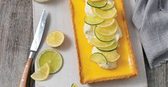 The tangy taste of lemon and lime is the perfect way to finish off a meal.