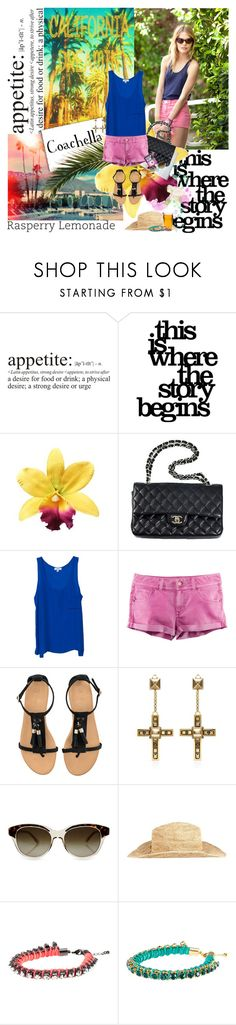 """""""Coachella"""" by virna ❤ liked on Polyvore featuring WALL, Chanel, OTTE, H&M, Lanvin, STELLA McCARTNEY and AllSaints"""