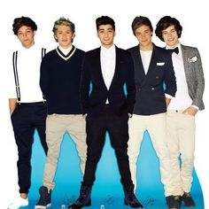 One Direction Cardboard Cutout Standup. The 1D guys look classy in this standup. #OneDirection #1D