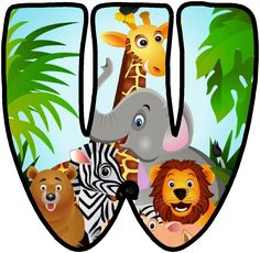 saved by HusnaHA Jungle Theme Classroom, Jungle Theme Birthday, Jungle Party, Safari Party, Safari Theme, Alfabeto Animal, Cute Letters, Baby Letters, Alphabet Letters