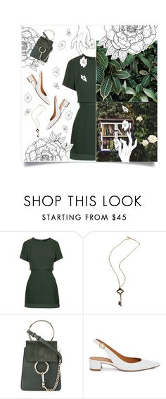 """""""Green garden."""" by maryamwrites ❤ liked on Polyvore featuring Topshop, Chloé and Mansur Gavriel"""