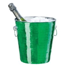 Oggi Mosaic Stainless Steel Glitz Single Wall Champagne Bucket 425Quart Green >>> This is an Amazon Affiliate link. Be sure to check out this awesome product.