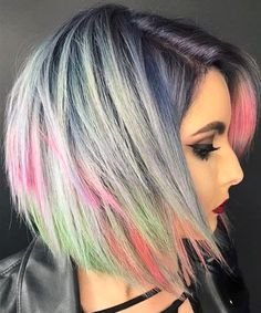 55 Awesome Pulpriot Hair Color Styles for Short Hair 2018 Hair Up Styles, Haircut Styles For Women, Modern Short Hairstyles, Trendy Hairstyles, Hair Color For Women, Cool Hair Color, Latest Hair Color, Corte Y Color, Hair Color Highlights