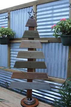 Our new pallet Christmas Tree!
