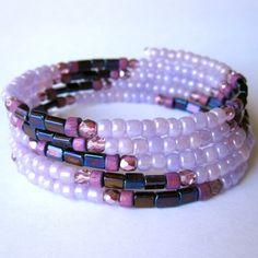 Memory Wire Bracelet Wrap Bracelet Purple by PaganucciDesigns, $18.00