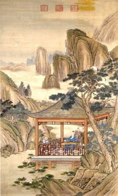 Pavilion in The Moutains Chinese Style Wall Mural, 5-Feet 7-Inch By 9-Feet 3-Inch - Amazon.com