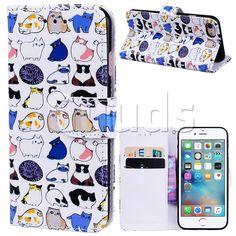 Mini Cat 3D Relief Oil PU Leather Wallet Case for iPhone 8 / 7 (4.7 inch) guuds #guuds #cat #iphone #iphone8 #iphone7 #case #cover #wallet #purse