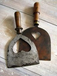 Antique French Herb Choppers--leave it to the french to absolutely beautify every single utilitarian object with love and beauty.....it would make the simple act of chopping herbs a labor of love