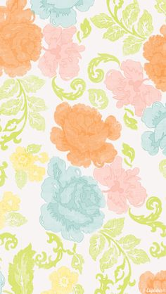 Colorful floral girly backround