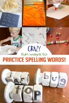 Learn how to help your kids with homework - with lots of crazy fun ways to practice spelling words too